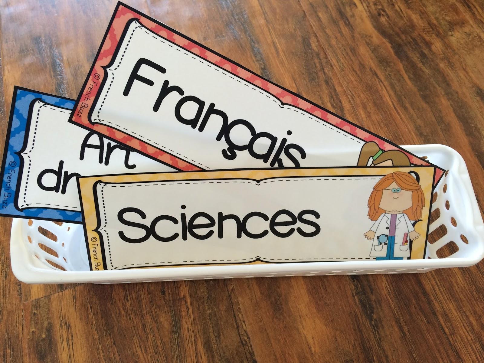 Célèbre French Buzz - ressources en français: Étiquettes pour décorer la  ZG83