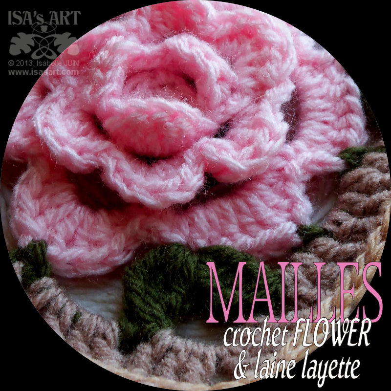 Quare Duschwanne Relief Plus Isa'sart: Mailles - Granny Square Rose Relief