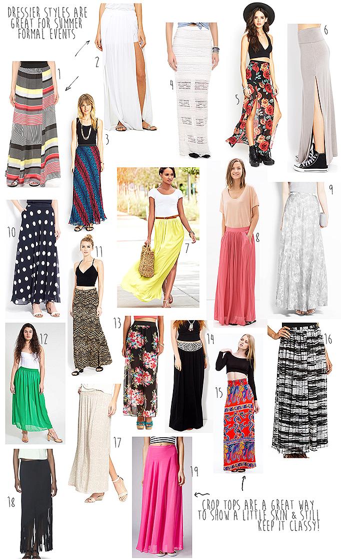 fashion friday - maxi skirts