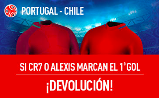 sportium promocion Portugal vs Chile 28 junio