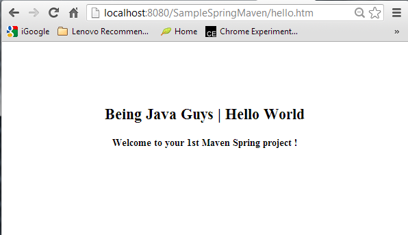 Spring Maven Web Project