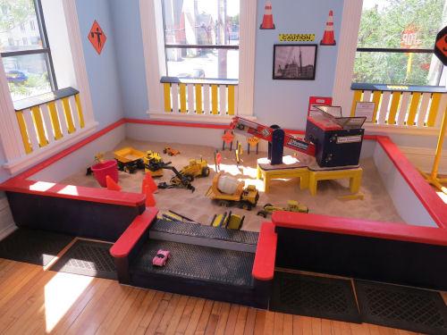 sandbox at a children's museum