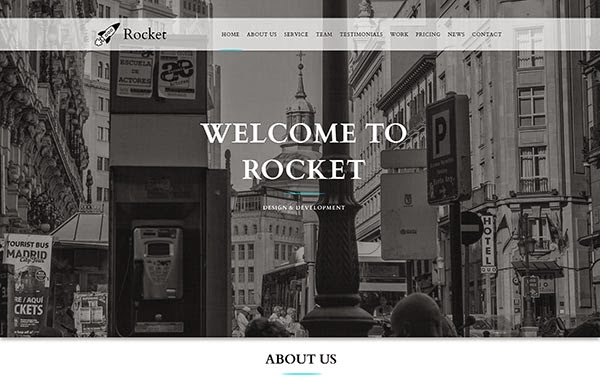 Rocket – Responsive One Page Multipurpose Template