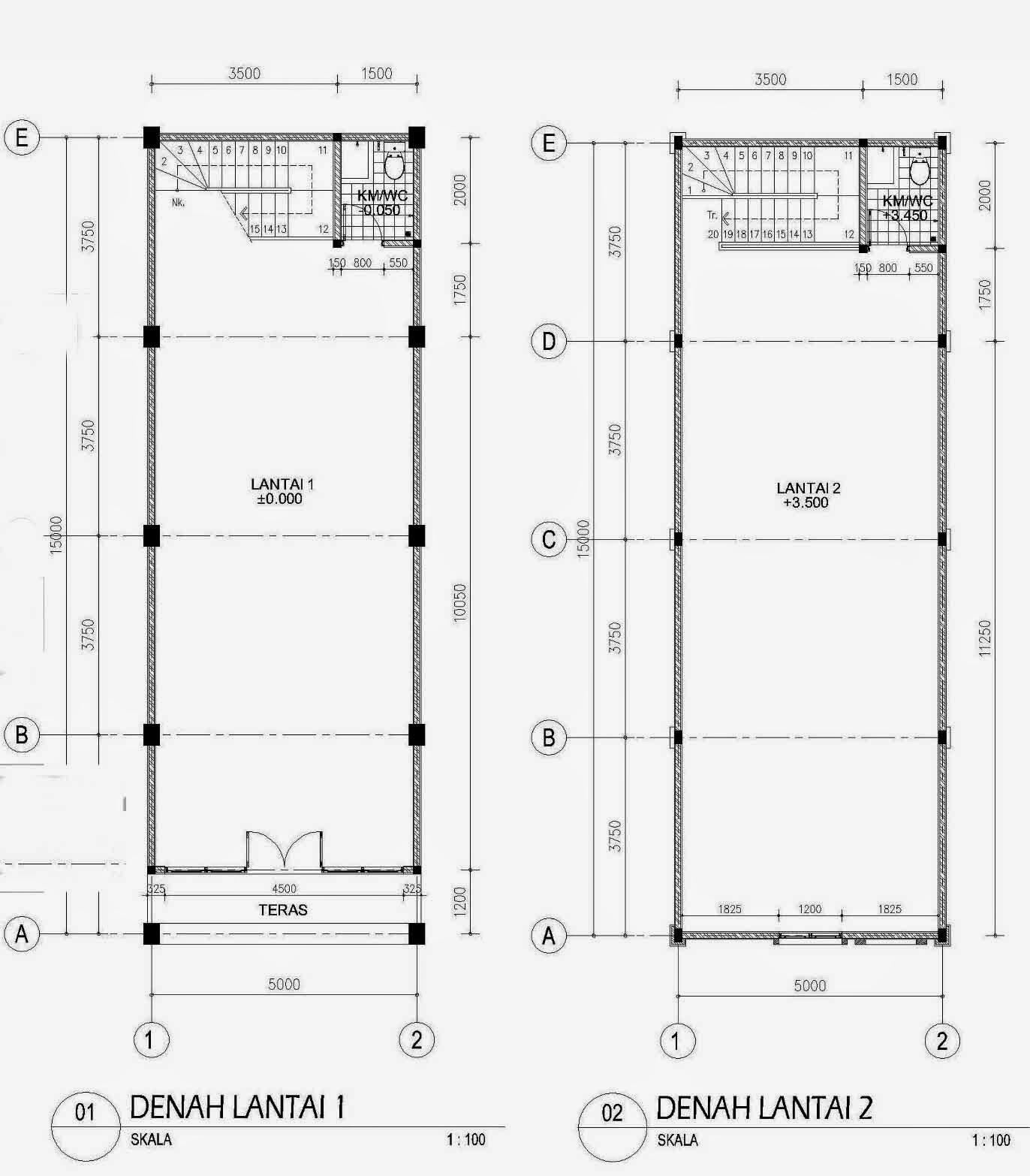 Desain Ruko Minimalis 2 Lantai Modern Elegan Terbaik 2014