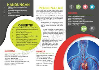 Kursus Anatomi Dan Fisiologi Di Kuantan Pada 30 September 2016 hingga 4 Oktober 2016