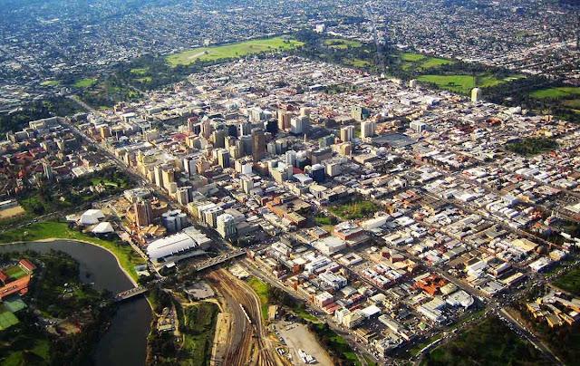 Imagem aérea de Adelaide