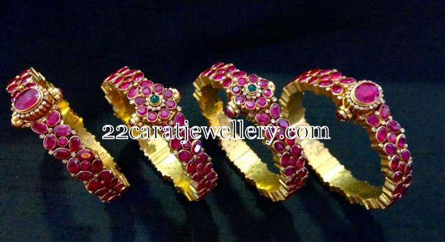 Attractive Ruby Bangles Gallery