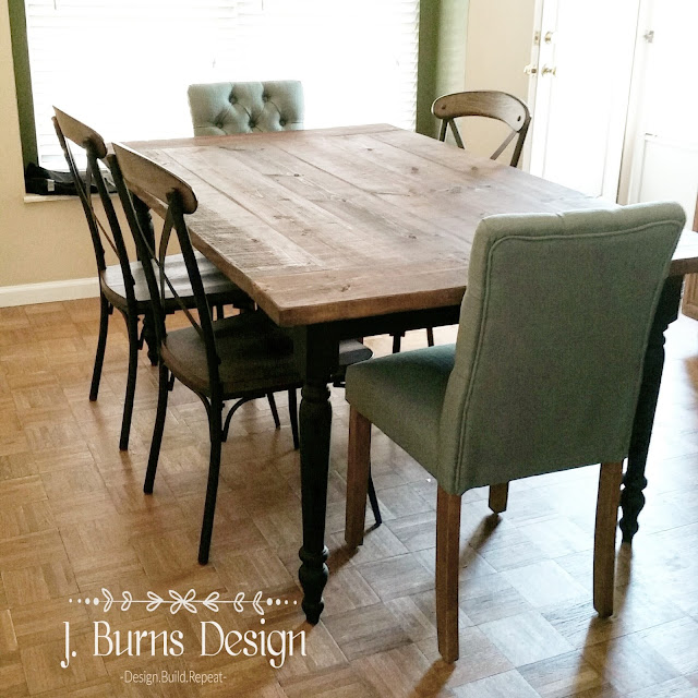 recreating a Salvaged wood finish on a farm table