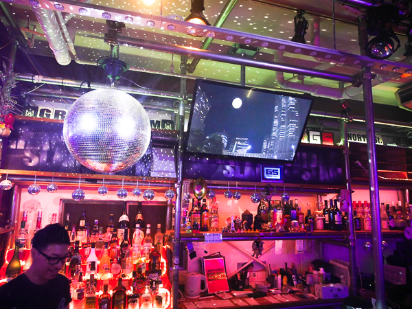 The bar at LGBT bar, Grand Slam, Doyama, Osaka, Japan.