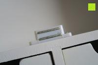 Magnet: Küchenschrank Wandschrank Hängeschrank 4 Haken 4 Schubladen 2 Glastüren Schrank