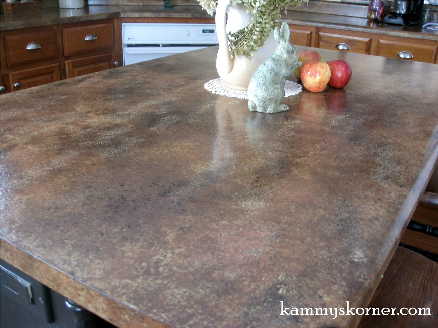 Kammy 39 S Korner Painted Faux Granite Counter Tops With Diy Chalk Paint