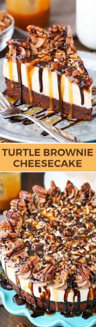 TURTLE BROWNIE CHEESECAKE