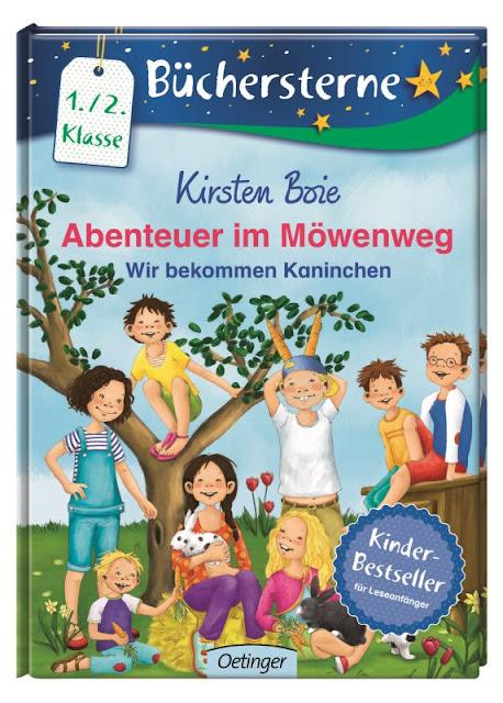 Das Bücherboot: Von Hühnern und Hasen - Kinderbücher nicht nur für Ostern (+ Verlosung). Die Kinder im Möwenweg bekommen Kaninchen - und die bleiben länger als bis Ostern, genau wie dieses tolle Buch für Leseanfänger von Kirsten Boie.