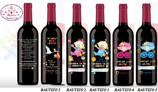 Botellas De Vino Para Regalar En Bautizos.Regalos Comunion Botella Vino