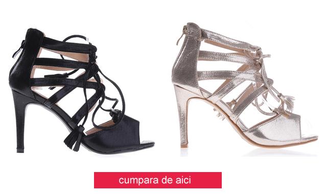 Sandale ieftine de ocazii elegante auii, negre cu toc inalt