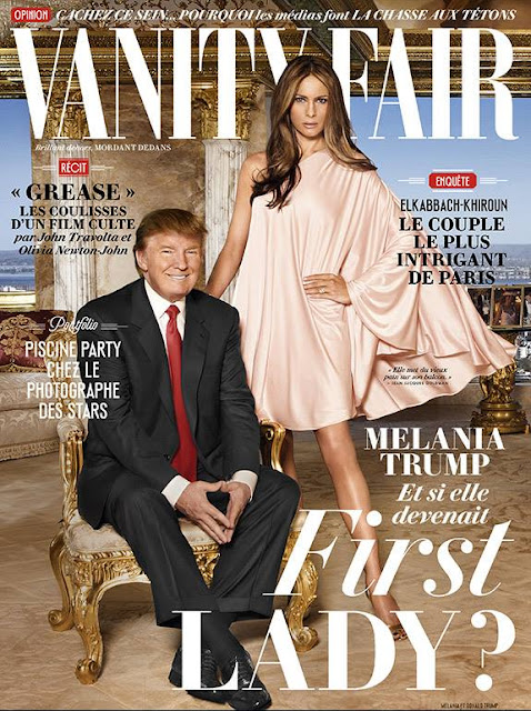 Model, Fashion designer, @ Donald & Melania Trump - Vanity Fair France, August 2016