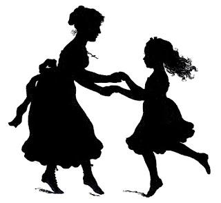 Siluetas de Madres con Niños.