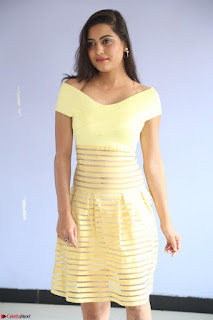 Shipra gaur in V Neck short Yellow Dress ~  070.JPG
