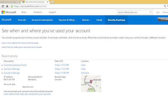 Second Attack on Microsoft Account