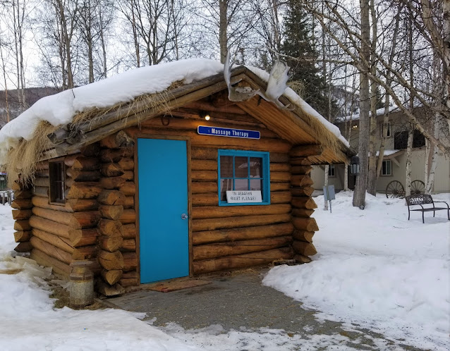 The massage cabin at Chena Hot Springs Resort