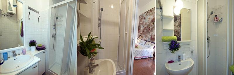 le nostre tre stanze ognuna con bagno interno