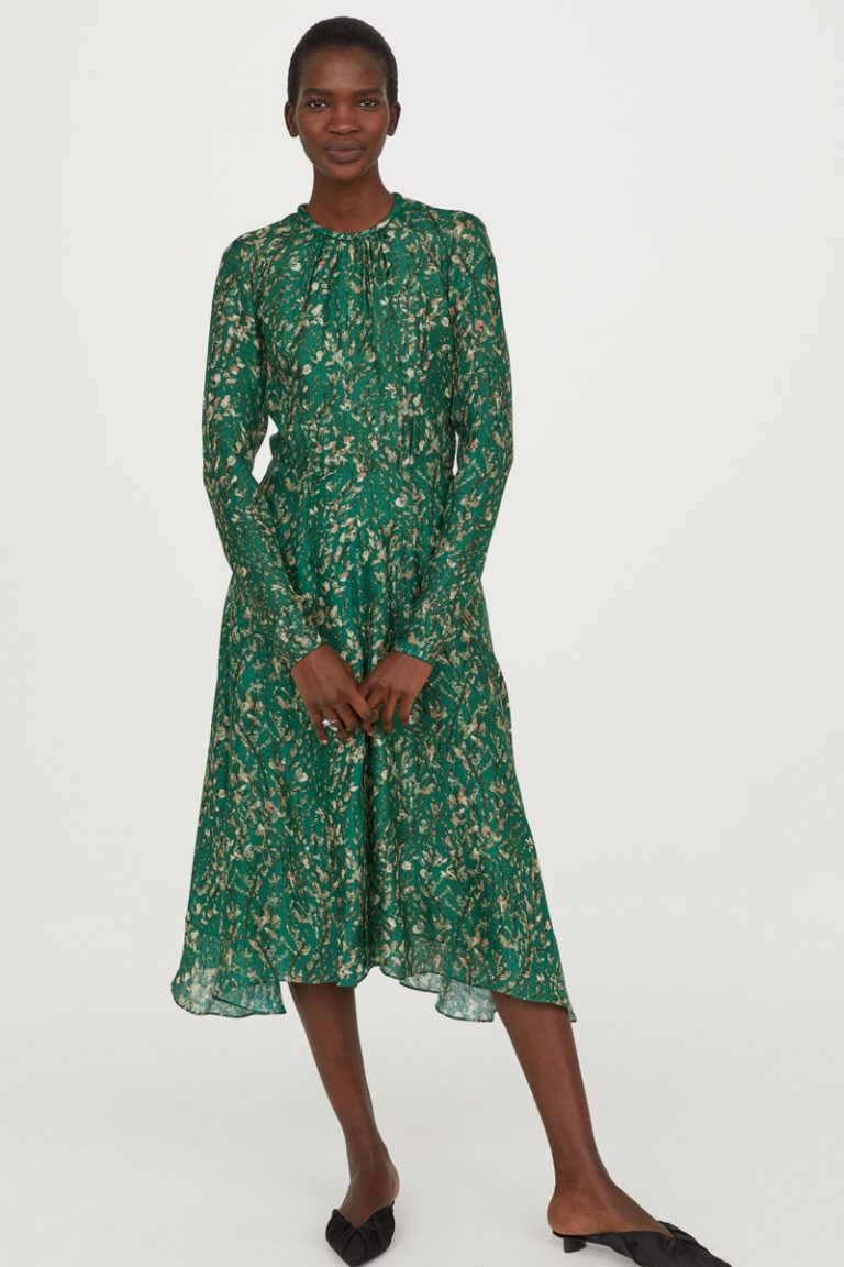 H&M Conscious Exclusive Silk Printed Dress