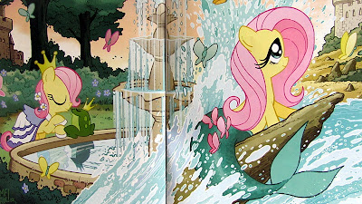 Tony Fleecs' double cover for the Fluttershy micro