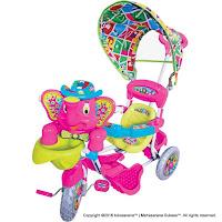 Sepeda Roda Tiga Royal RY8082C Gajah Mexico Kanopi