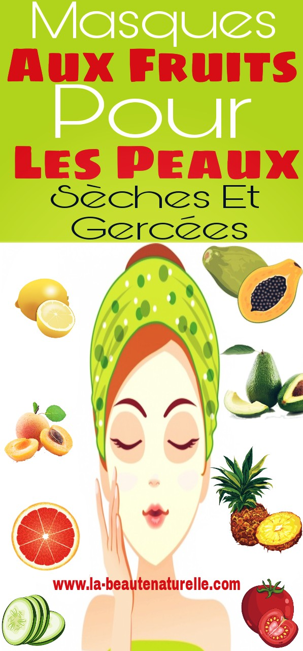 Masques aux fruits pour les peaux sèches et gercées