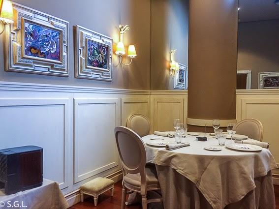 Comer en Bilbao. Restaurante Etxanobe. Reservado