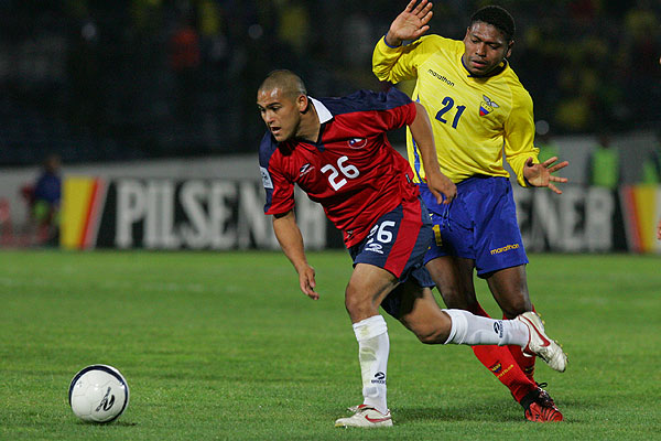 Chile y Ecuador en Clasificatorias a Alemania 2006, 12 de octubre de 2005
