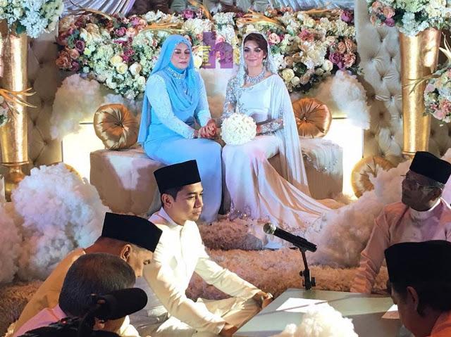 Gambar Majlis Resepsi Perkahwinan Amar Baharin & Amyra Rosli
