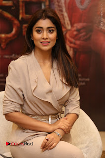 Actress Shriya Saran Stills in Stylish Dress at Gautamiputra Satakarni Team Press Meet  0115.JPG