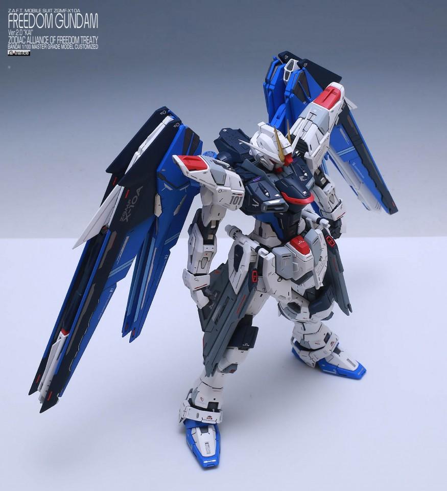 "Custom Build: MG 1/100 Freedom Gundam Ver. 2.0 ""KAI"" by g_trans8"
