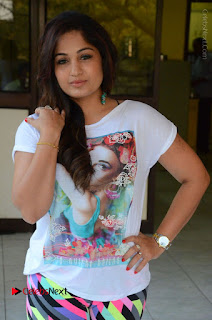 Actress Madhavi Latha Latest Stills at Swachh Hyderabad Cricket Press Meet  0032.JPG