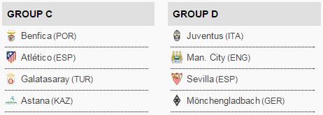 Grup C-D UEFA Champions League