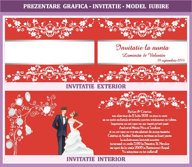 invitatii nunta iubire