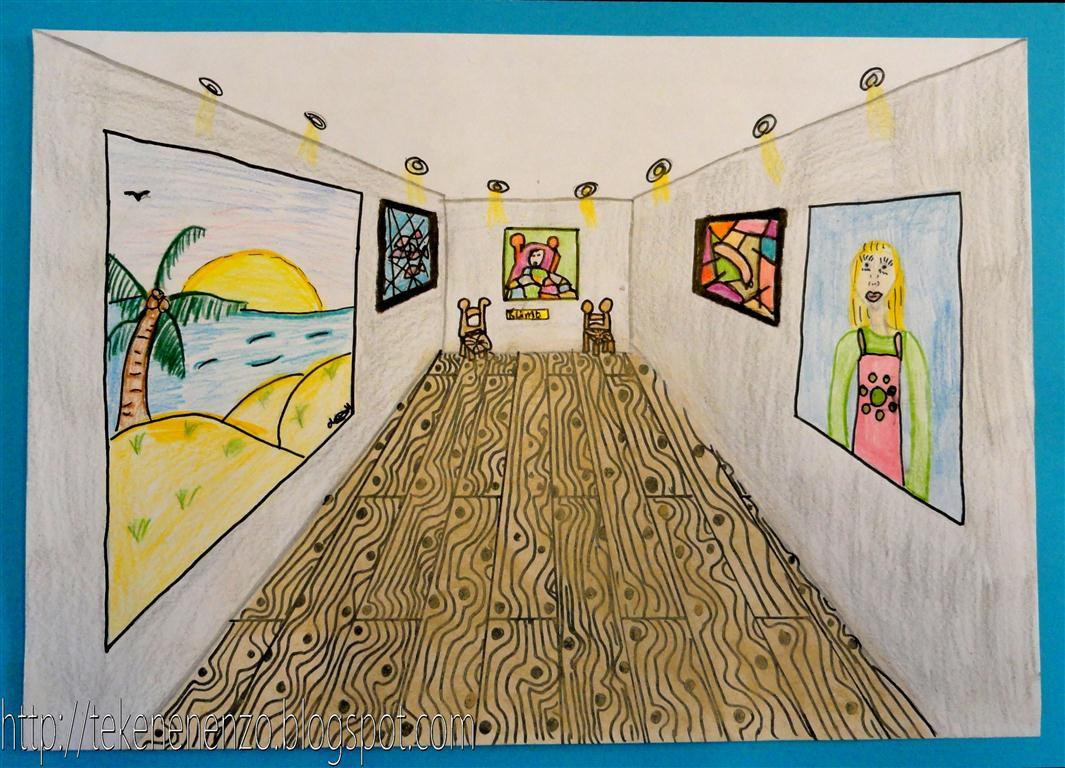 Tekenen en zo museum voor moderne kunst for Kamer 3d tekenen