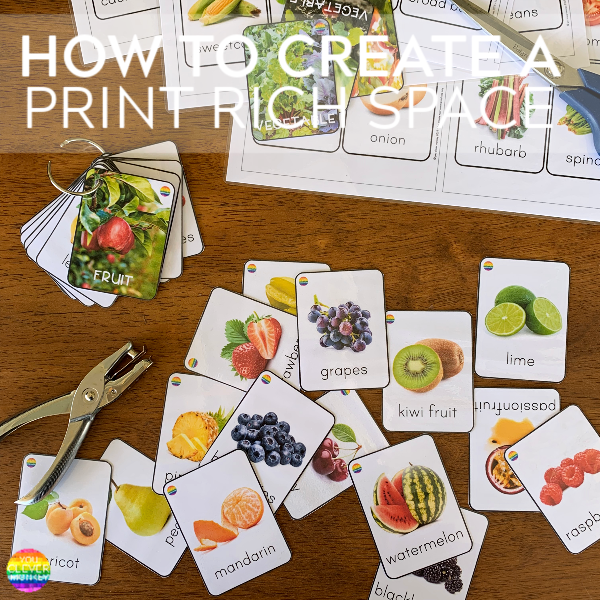 Fruit + Vegetable Flashcards | you clever monkey