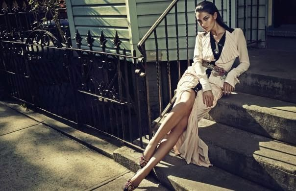 Fashion Editorial  | ''Charmosa''  Lily Aldridge by Hong Jang Hyun for Elle Korea