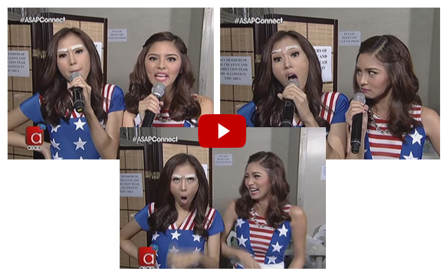 Watch Actresses Kim Chiu and Alex Gonzaga impersonating the 'Pabebe Girls'