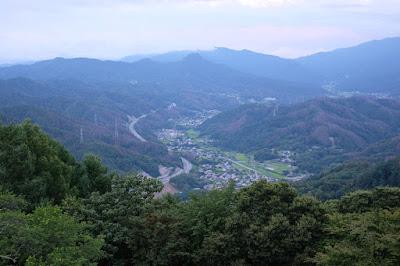 長峰山休憩展望台 旧四賀村方面の景色