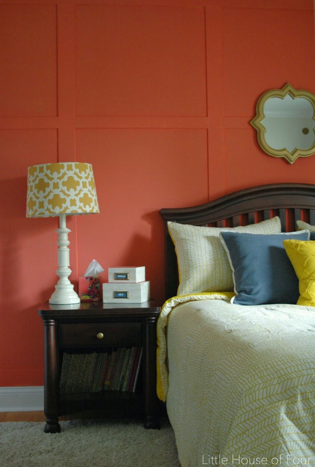 Coral board and batten wall