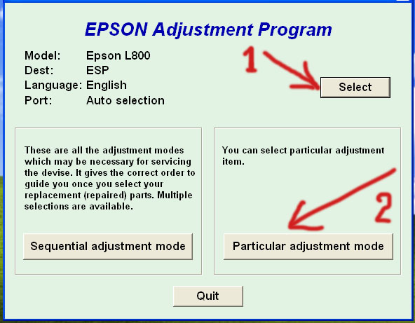 Adjustment Program Epson artisan 810