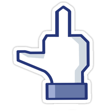 Middle Finger for Facebook