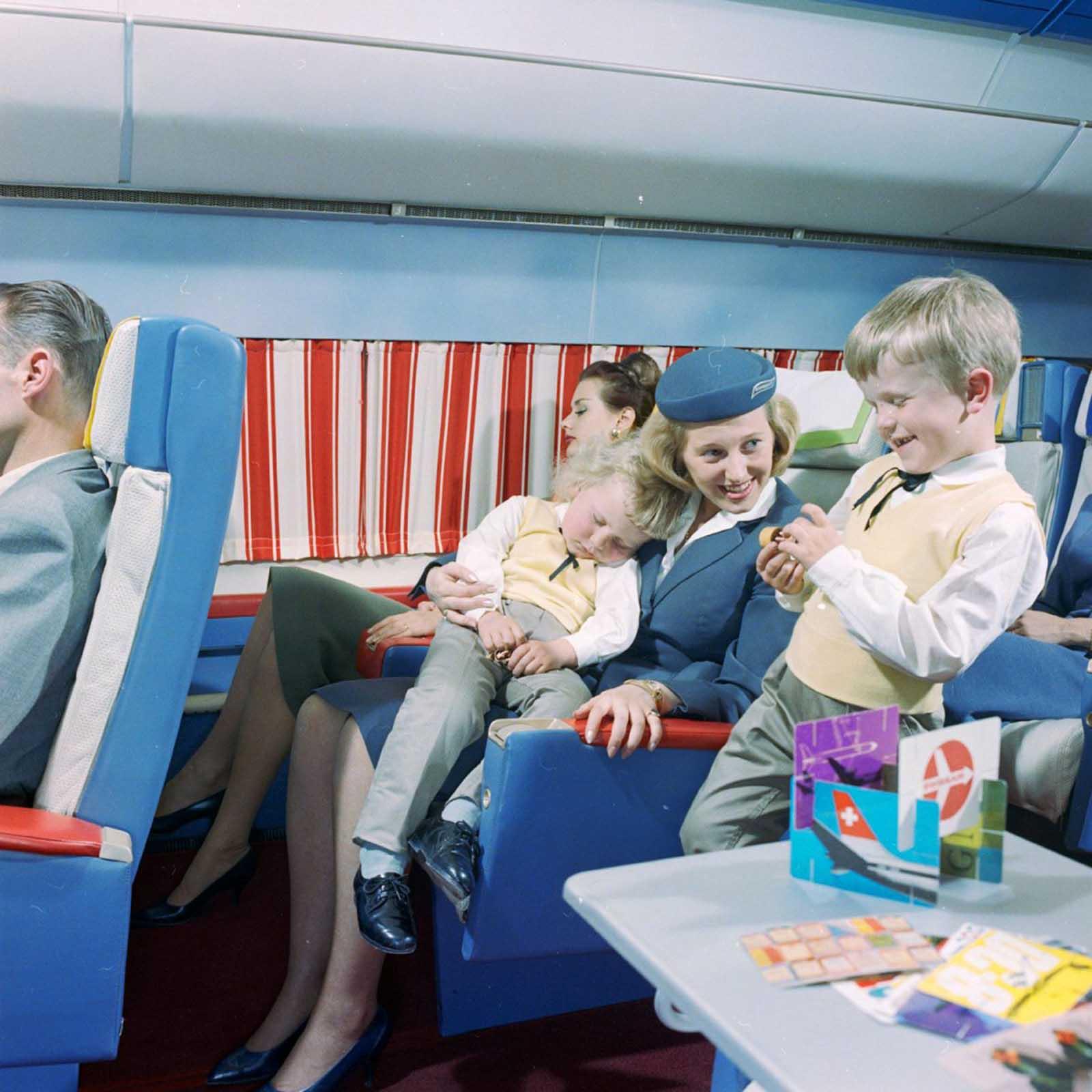 flying first class 1960s%2B%25282%2529 - Voando na primeira classe na década de 60