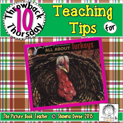 All About Turkeys by Jim Arnosky TBT - Teaching Tips.