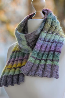 Gathered Rib Scarf