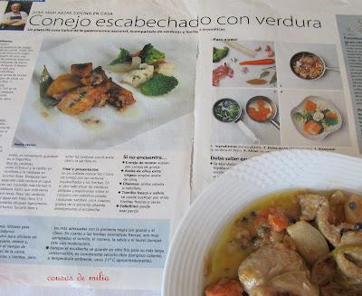 Conejo escabechado con verduras de Arzak