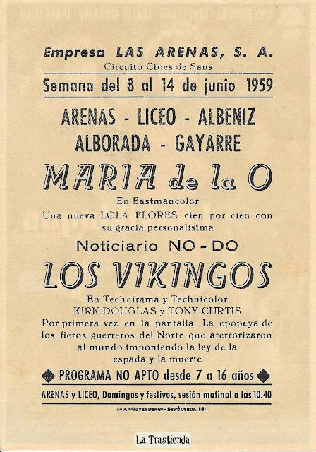 Los Vikingos - Programa de Cine - Kirk Douglas- Tony Curtis - Janet Leigh